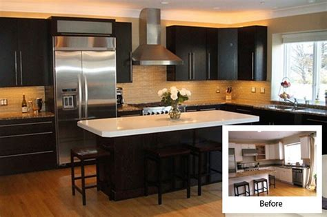 reface kitchen cabinets before and after before and after kitchen cabinet refacing modern kitchens