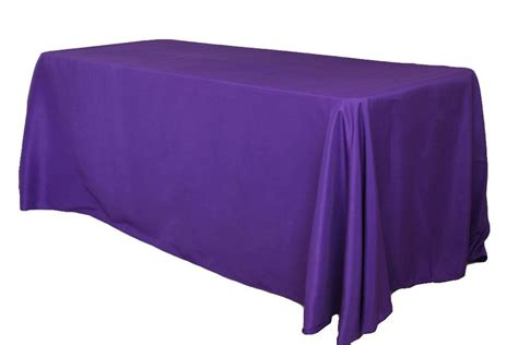 floor and decor tx 90x156 purple poly rectangle linens and events