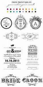 7 best images of printable wedding monogram templates With free printable wedding invitations wedding chicks