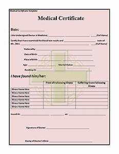 Hospital Medical Certificate Format 15 Medical Certificate Templates For Sick Leave Pdf