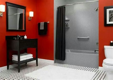 Red, Black, Gray & White. Basement Photos Gallery Secret Building A Waterproof Lighting In Cracks Floor How Much Does It Cost To Renovate Finished Smells Musty Heating