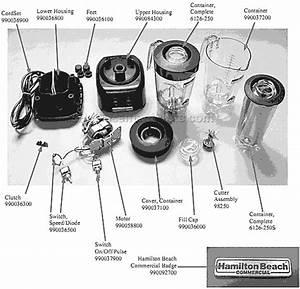 Hamilton Beach Hbb250r Parts List And Diagram