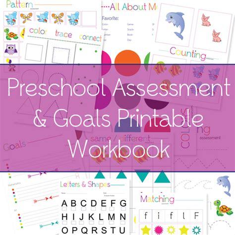 free preschool assessment printable workbook free