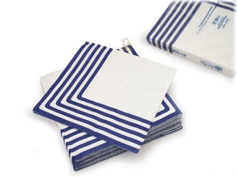 serviettes en papier marini 232 re 233 bleu marine lot de 20