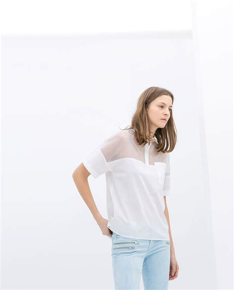 zara white blouse white sheer zara blouse black blouse
