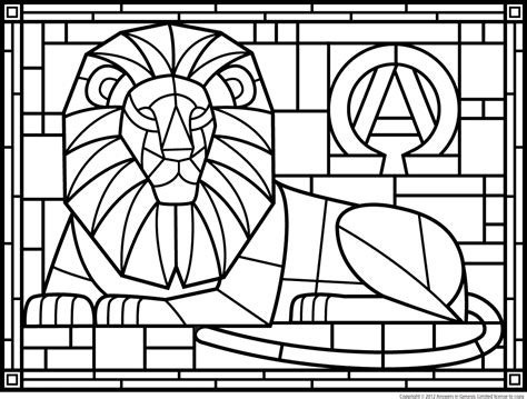 Christian Stained Glass Coloring Pages Coloring Pages