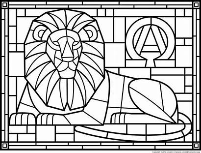Stained Coloring Glass Pages Window Nature