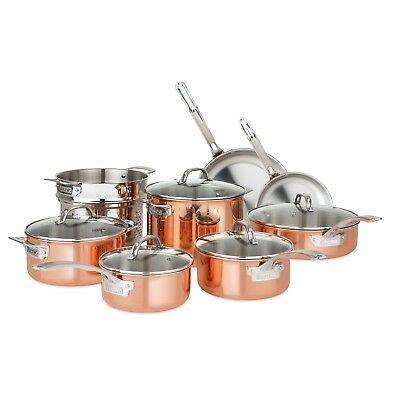 permanent  ply multi core stainless steel skillet   qt sauce pan wlids  picclick