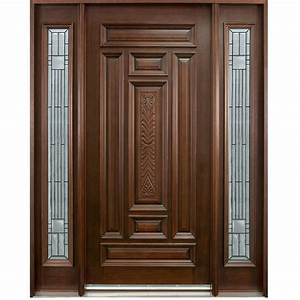 Single Solid Wood Door Hpd102 - Solid Wood Doors - Al