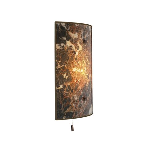 wall panel light savoy italian marble glass with