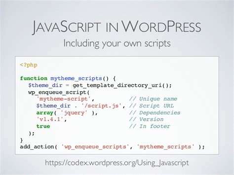 get template directory uri the future of and javascript