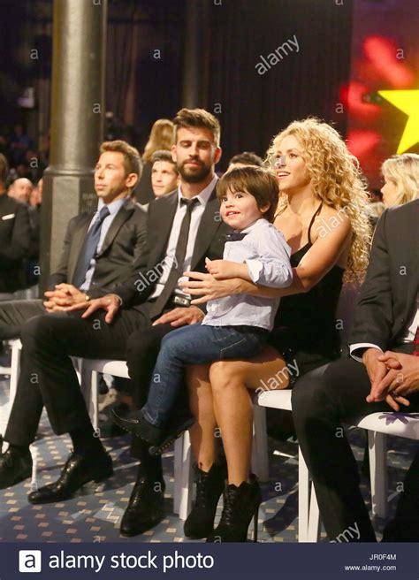 Shakira, Gerard Piqué And Milan Piqué Singer Shakira