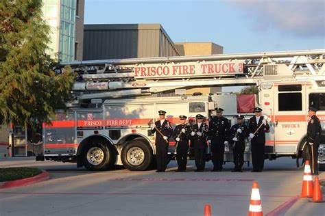 frisco fireplace and frisco firefighters other city leaders pause to