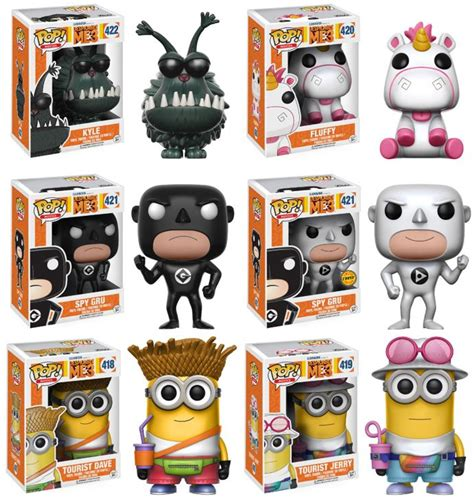 Upper Deck Customer Service by Despicable Me 3 Complete Set 6 W Chase Funko Pop