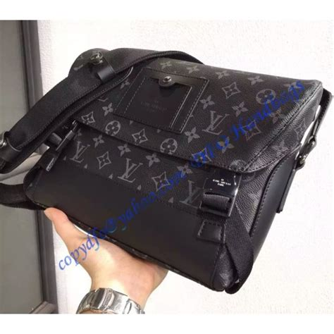 louis vuitton monogram eclipse messenger pm voyager  luxtime dfo handbags