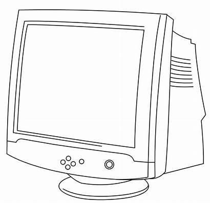 Monitor Crt Line Computer Clipart Clip Monitors