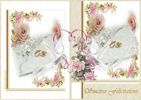 modele carte de voeux pour mariage felicitations