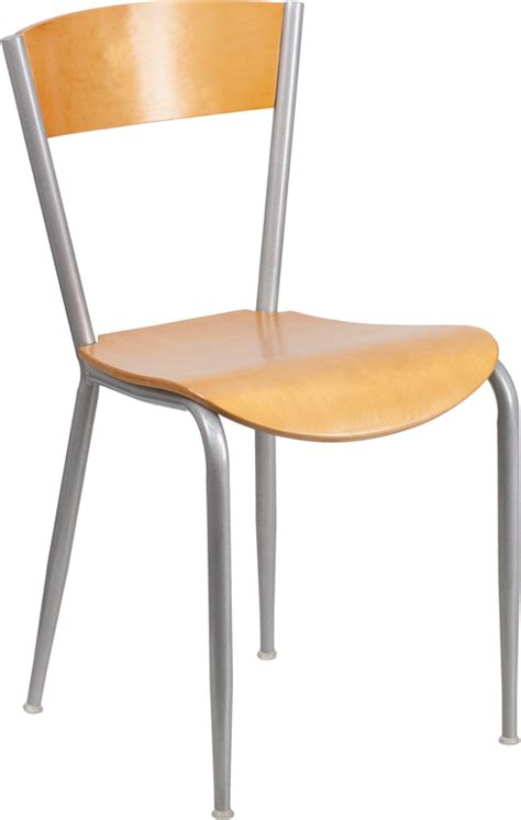metal restaurant chair with wood back seat bfdh