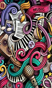 Iphone wallpaper music, Iphone wallpaper hipster, Music doodle