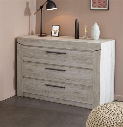 d馗o chambre adulte moderne commode adulte contemporaine 3 tiroirs chêne gris julietta commode et coiffeuse chambre adulte chambre