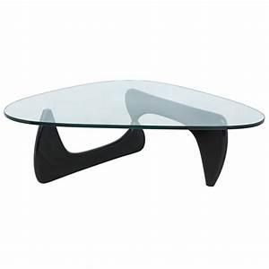 Noguchi Coffee Table : isamu noguchi style triangle coffee table with black wood base ebay ~ Watch28wear.com Haus und Dekorationen