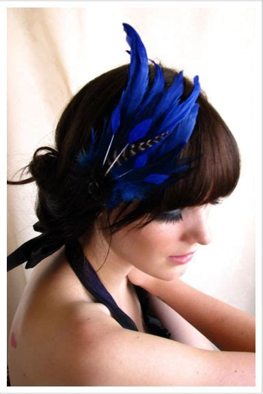 style swoon blue fascinator crafty wearables feather