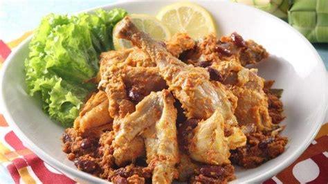 resep rendang ayam  lezat  istimewa  sajian