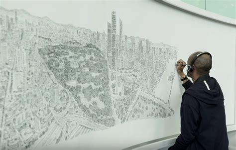 stephen wiltshire draws  mexico city panorama  memory