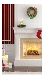 Interior gifts fireplace Christmas tree - Phone wallpapers