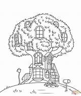 Coloring Treehouse Pages Bears Berenstain Printable Drawing sketch template