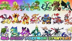 All Shiny Pokémon Starters - YouTube