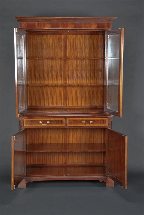 pictures of china cabinets high end mahogany two door china cabinet ebay