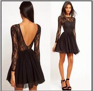 dress, black, black dress, lace, lace dress, long sleeves ...