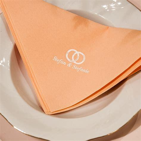 serviette airlaid dinner apricot personalisiert