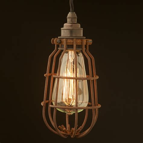 light bulb cage enclosed antiqued light bulb guard fitting 7 inch
