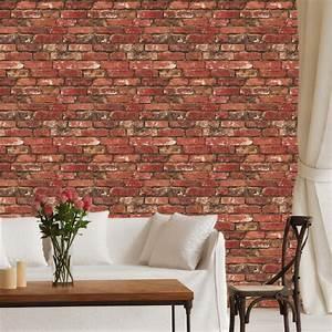 Red Bricks Wallpaper Decal _ Self Adhesive Brick Wallpaper ...