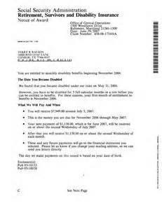 social security disability award letter