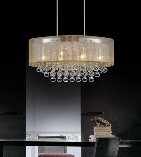 chandelier l shade cwi lighting oval 26 inch ceiling chandelier with gold