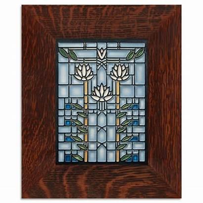 Wright Frank Lloyd Glass Tile Stained Dana
