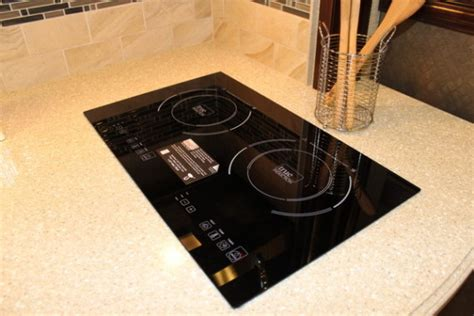 rv induction cooktop renovation rv furniture rv cooktop installation