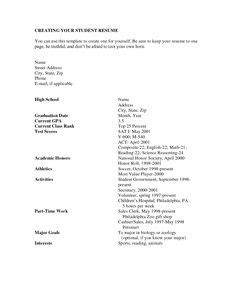 Grade 8 Resume Template by Resume Exles For High School Students In The Same
