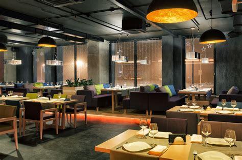 cuisine style bistro beton cement restaurant architecture style