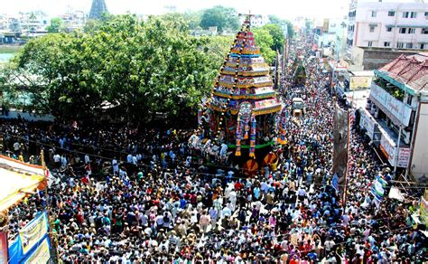 Images Thousands Celebrate Chariot Festival In Chennai
