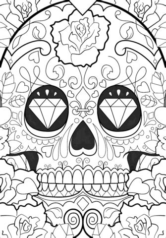 day   dead pattern coloring page  printable