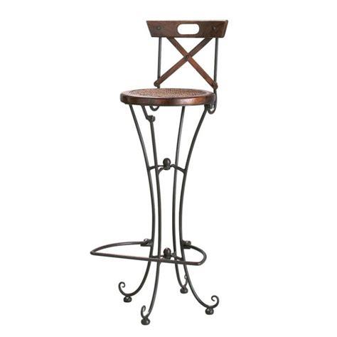 maison du monde chaise de bar chaise de bar en bois de sheesham massif et fer forgé