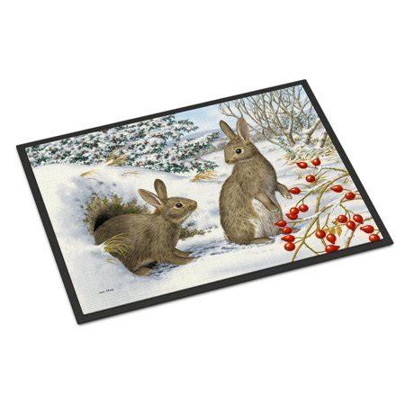 rabbit doormat winter rabbits door mat walmart