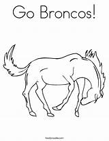 Broncos Coloring Bronco Pages Go Horse Drawing Denver Mustangs Print Sterling Noodle Animals Getdrawings Outline Printable Farm Twistynoodle Tracing Ll sketch template