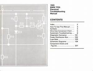 1983 Bmw 733i Electrical Troubleshooting Manual Original
