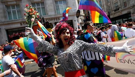 london pride parade disrupted  anti trans protesters newshub