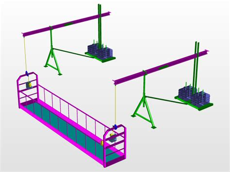 Motorized Suspended Weight Scaffolding System 3d Cad